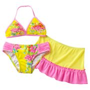 Candie's Floral Gingham 3-pc. Bikini Swimsuit Set - Girls 7-16