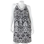 Apt. 9 Scroll Embellished Shift Dress - Women's Plus