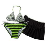 Malibu Dream Girl Reversible 3-pc. Bikini Swimsuit Set - Girls 7-16