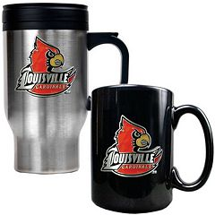 Louisville Cardinals 2 pc Stainless Steel Mug & Ceramic Mug Set