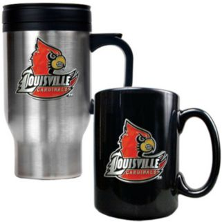 Louisville Cardinals 2-pc. Stainless Steel Mug and Ceramic Mug Set