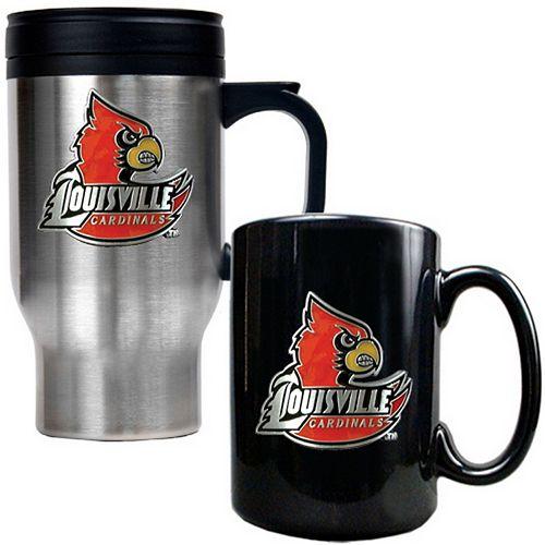 Louisville Cardinals 2-pc. Stainless Steel Mug & Ceramic Mug Set