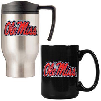 Ole Miss Rebels 2-pc. Stainless Steel Mug & Ceramic Mug Set