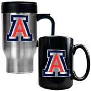 Arizona Wildcats 2-pc. Stainless Steel Mug and Ceramic Mug Set