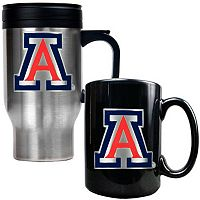 Arizona Wildcats 2-pc. Stainless Steel Mug & Ceramic Mug Set