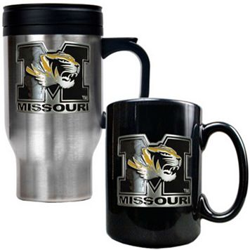Missouri Tigers 2-pc. Stainless Steel Mug & Ceramic Mug Set