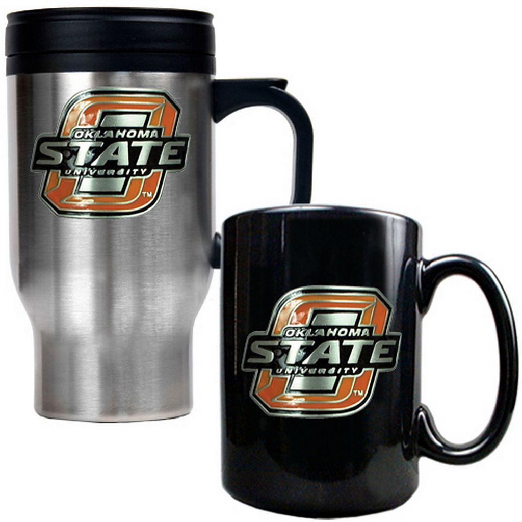 Oklahoma State Cowboys 2-pc. Stainless Steel Mug & Ceramic Mug Set