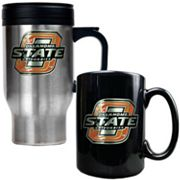 Oklahoma State Cowboys 2-pc. Stainless Steel Mug and Ceramic Mug Set