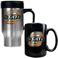 Oklahoma State Cowboys 2 pc Stainless Steel Mug & Ceramic Mug Set