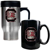 South Carolina Gamecocks 2-pc. Stainless Steel Mug & Ceramic Mug Set
