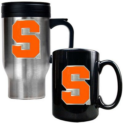 Syracuse Orange 2-pc. Stainless Steel Mug and Ceramic Mug Set