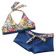 Mudd Floral 2-pc. Bikini Swimsuit Set - Girls 7-16