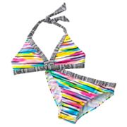 Mudd Geometric and Striped 2-pc. Bikini Swimsuit Set - Girls 7-16