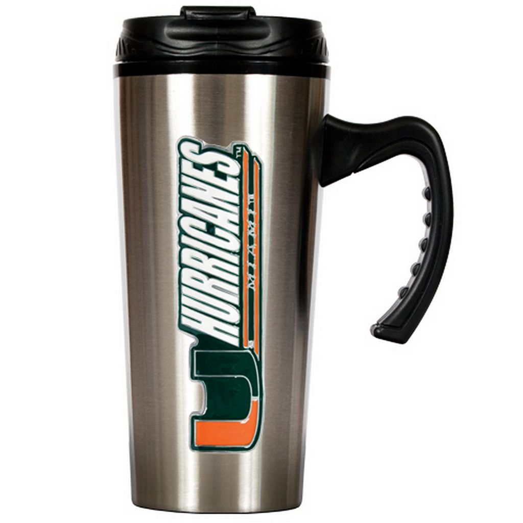 Miami Hurricanes Stainless Steel Travel Mug