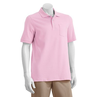 Croft and Barrow Pocket Pique Polo - Big and Tall