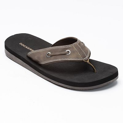 Dockers Leather-Laced Flip-Flops - Men