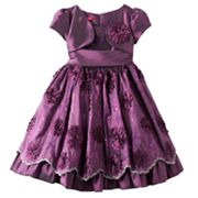 Princess Faith Floral Embroidered Mock-Layer Dress - Girls 7-12