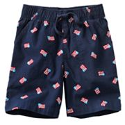 Jumping Beans Flag Canvas Shorts - Toddler