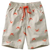 Jumping Beans Crab Canvas Shorts - Toddler