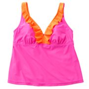 SO Ruffle Tankini Top - Juniors' Plus