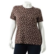 Croft and Barrow Animal Tee - Women's Plus