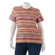 Croft and Barrow Striped Tee - Women's Plus