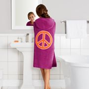 Jumping Beans Peace Sign Big Kid Bath Wrap