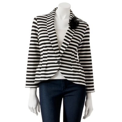 Candie's Striped Peplum Blazer