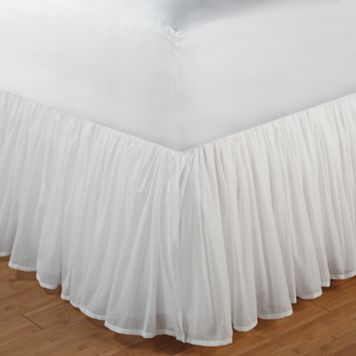 Voile White Bedskirt - Full