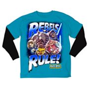 Angry Birds Star Wars Rebels Rule Mock-Layer Tee - Boys 8-20