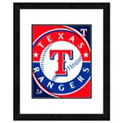 Texas Rangers Framed Logo
