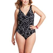 Trimshaper Leaf One-Piece Swimsuit - Women's Plus