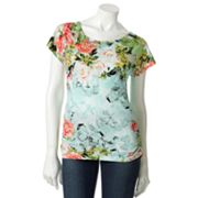 Apt. 9 Printed Ruched Top - Petite