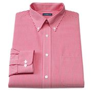 Croft and Barrow Slim-Fit Gingham Easy-Care Button-Down Collar Dress Shirt