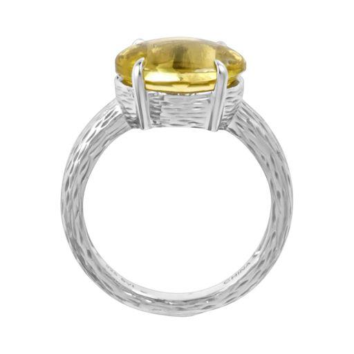 Sterling Silver Lime Quartz Ring