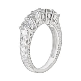 Sterling Silver White Topaz Five-Stone Ring