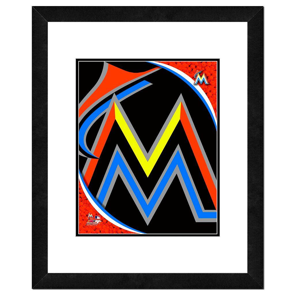 Miami Marlins Framed Logo