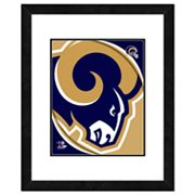 St. Louis Rams Framed Logo