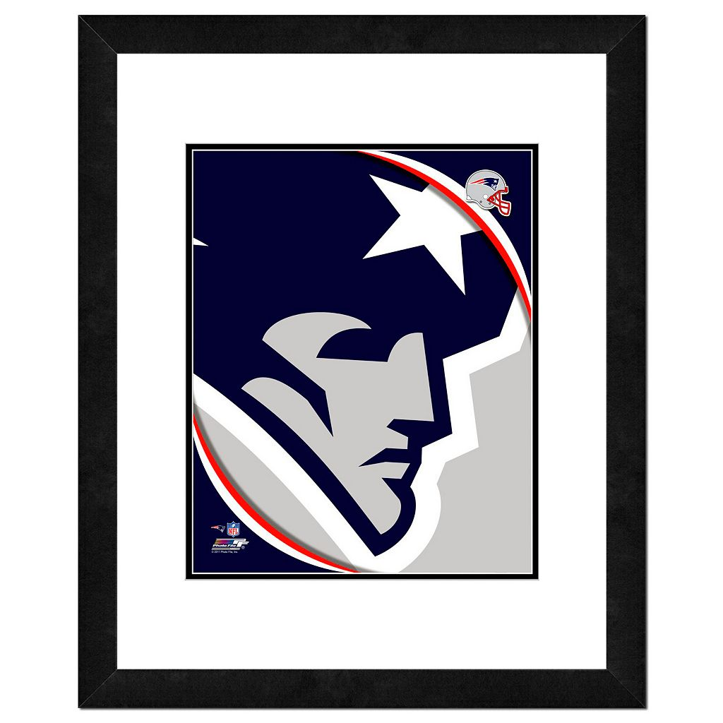 New England Patriots Framed Logo