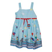 Blueberi Boulevard Hot Air Balloon Sundress - Girls 4-6x