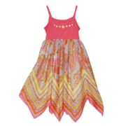 Blueberi Boulevard Paisley Handkerchief Sundress - Girls 4-6x