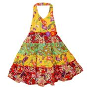 Blueberi Boulevard Floral Tiered Halter Sundress - Girls 4-6x