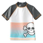 Jumping Beans Stripe Skull Raglan Rash Guard - Boys 4-7x
