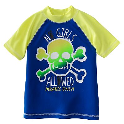 Jumping Beans No Girls Allowed Raglan Rash Guard - Boys 4-7x