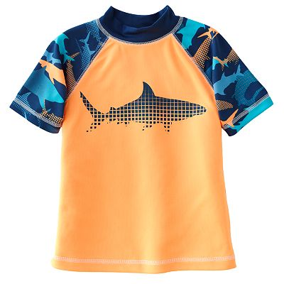 Jumping Beans Square Shark Raglan Rash Guard - Boys 4-7x