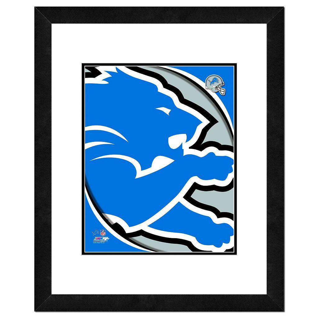Detroit Lions Framed Logo