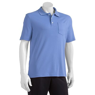 Croft and Barrow Solid Easy-Care Pocket Polo - Big and Tall