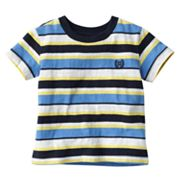 Chaps Striped Slubbed Tee - Baby