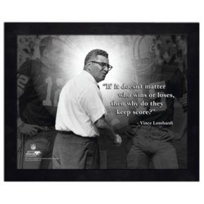 Vince Lombardi Framed Coach Photo