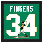 Rollie Fingers Framed Jersey Photo